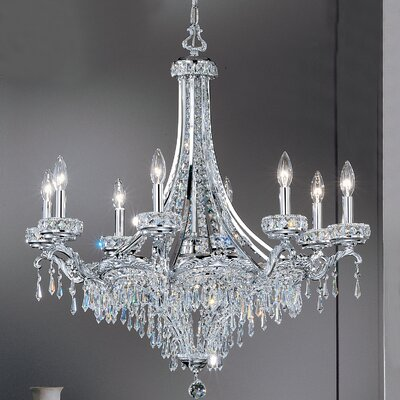 Emily 8-Light Crystal Chandelier Crystal Type: Crystalique-Plus, Finish: Roman Bronze