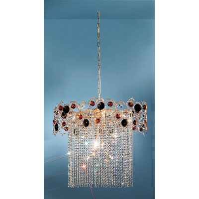 Foresta Colorita 10-Light Crystal Chandelier Finish: Natural Bronze, Crystal Type: Smoke and Amber