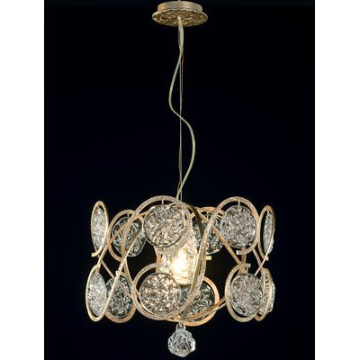 Celeste 1-Light Drum Pendant Finish: Silver Frost