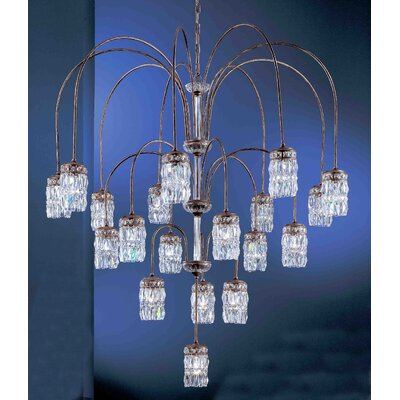 Cascade 8-Light Crystal Chandelier Crystal Type: Amethyst, Finish: English Bronze with Gold