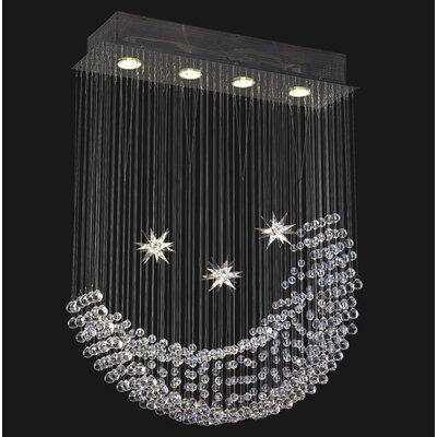 Corpi Celeste 4-Light Crystal Chandelier