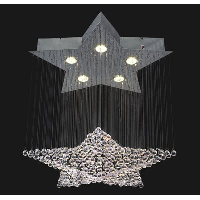 Corpi Celeste 5-Light Crystal Chandelier