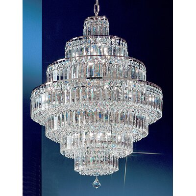 Ambassador 18-Light Crystal Chandelier Finish: Chrome, Crystal Type: Crystalique Plus