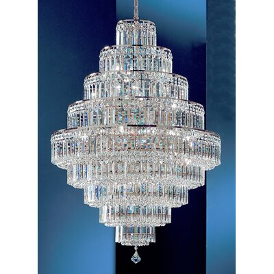 Ambassador 30-Light Crystal Chandelier Finish: 24k Gold Plate, Crystal Type: Swarovski Elements