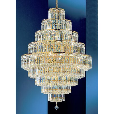 Ambassador 30-Light Crystal Chandelier Finish: 24k Gold Plate, Crystal Type: Crystalique Plus