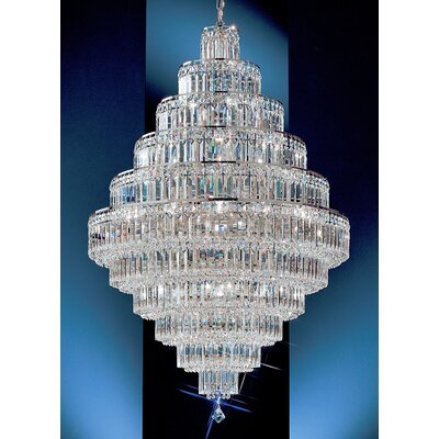 Ambassador 30-Light Crystal Chandelier Finish: 24k Gold Plate, Crystal Type: Swarovski Spectra