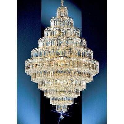 Ambassador 30-Light Crystal Chandelier Finish: 24k Gold Plate, Crystal Type: Crystalique Plus