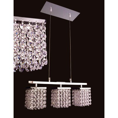 Bedazzle 3-Light Kitchen Island Pendant