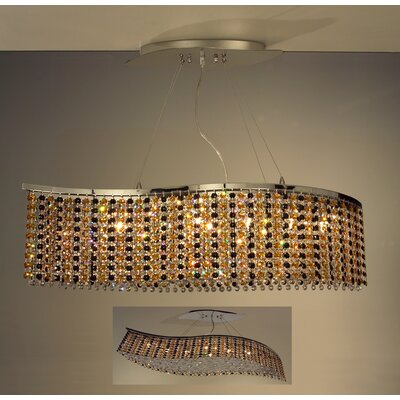 Bedazzle 8-Light Kitchen Island Pendant Crystal: Swarovski Elements Custom