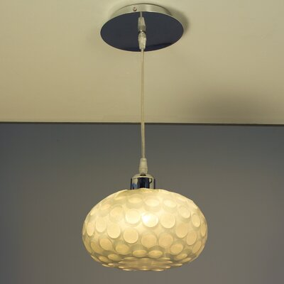 Laguna 1-Light Globe Pendant Finish: Chrome with Cream Shades