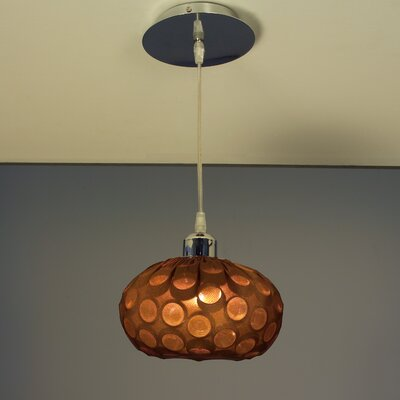 Laguna 1-Light Globe Pendant Finish: Chrome with Espresso Shades