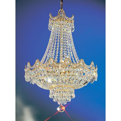 Regency 8-Light Empire Chandelier Crystal Type: Swarovski Spectra