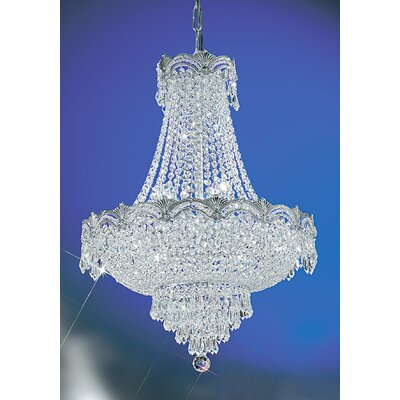 Regency II 8-Light Empire Chandelier Crystal Type: Crystalique Golden Teak, Finish: Roman Bronze
