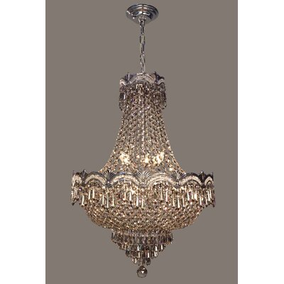 Regency II 8-Light Empire Chandelier Finish: Chrome with Black patina, Crystal Type: Smokeique Plus