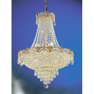 Regency II 8-Light Empire Chandelier Crystal Type: Crystalique Plus, Finish: 24k Gold Plate