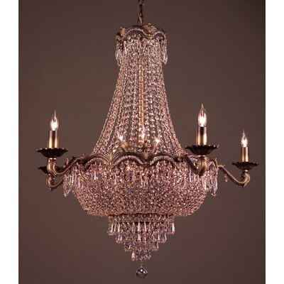 Regency II 13-Light Empire Chandelier Finish: Roman Bronze, Crystal Type: Crystalique Plus