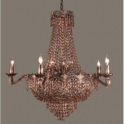 Regency II 13-Light Empire Chandelier Finish: Roman Bronze, Crystal Type: Swarovski Elements Golden Teak