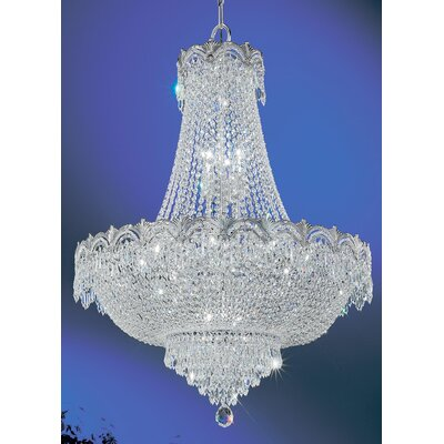 Regency II 9-Light Empire Chandelier Finish: Chrome with Black patina, Crystal Type: Crystalique Plus