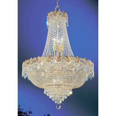 Regency II 9-Light Empire Chandelier Finish: 24k Gold Plate, Crystal Type: Crystalique Plus