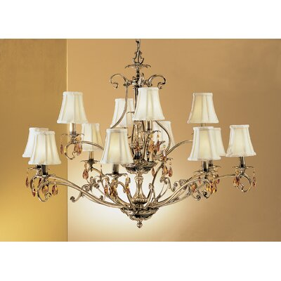 Danube 12-Light Shaded Chandelier Crystal Type: Crystalique
