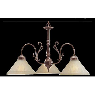 Billings 3-Light Shaded Chandelier Finish: English Bronze