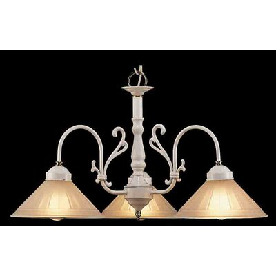 Billings 3-Light Shaded Chandelier Finish: White