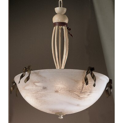 Belluno 5-Light Inverted Pendant Finish: Ivory Brown