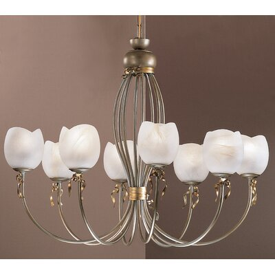Belluno 8-Light Candle-Style Chandelier Finish: Silver-Gold