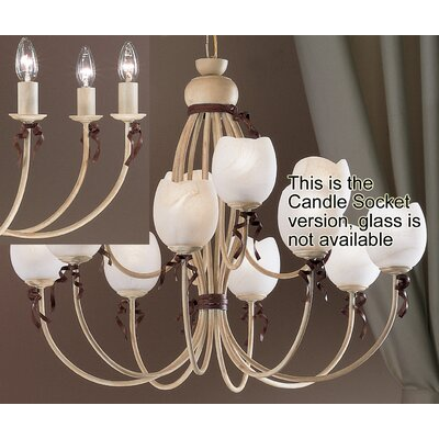Belluno 12-Light Shaded Chandelier Finish: Ivory Brown