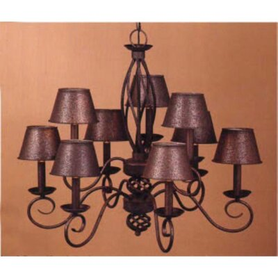 Chalet 9-Light Candle-Style Chandelier Finish: Antique Iron