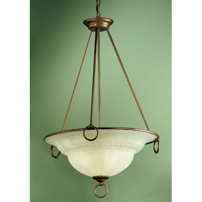 Livorno 3-Light Inverted Pendant Finish: Ivory Gold