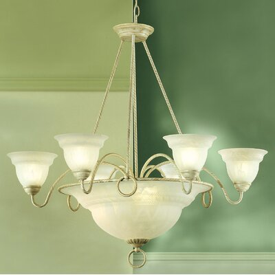 Livorno 9-Light Pendant Finish: Ivory Gold