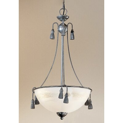 Rope and Tassel 3-Light Bowl Pendant Finish: Pewter