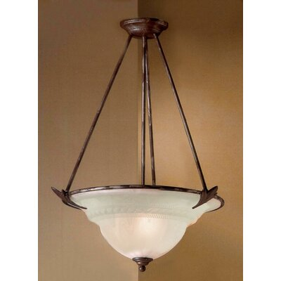 Roma 3-Light Bowl Pendant Finish: Bronze