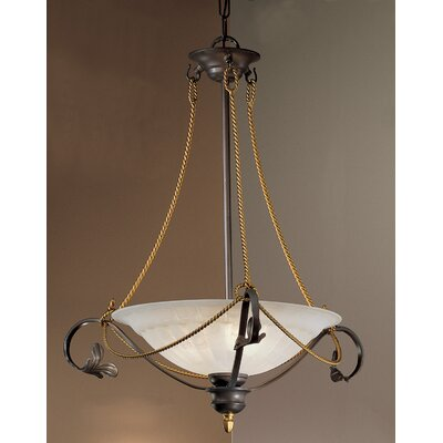 Verona 3-Light Semi-Flush Mount Finish: Bronze