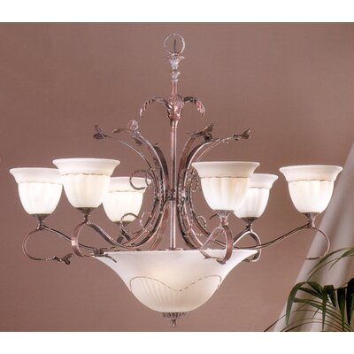 Treviso 9-Light Shaded Chandelier Finish: Weathered Clay