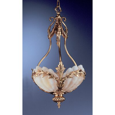 La Paloma 3-Light Inverted Pendant Finish: Satin Gold