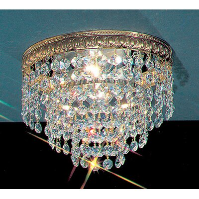 Crystal Baskets Light Semi-Flush Mount Crystal Type: Swarovski Spectra, Size: 9