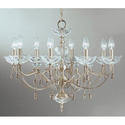Devonshire 8-Light Candle-Style Chandelier Finish: Satin Nickel