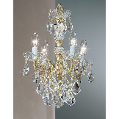 Madrid Imperial 4-Light Crystal Chandelier Finish: Olde World Bronze, Crystal Type: Swarovski Elements Golden Teak