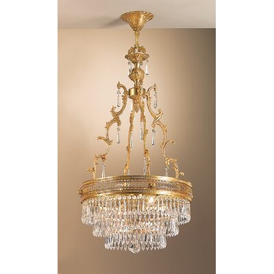 Renaissance 4-Light Pendant Finish: French Gold, Crystal Type: Crystalique
