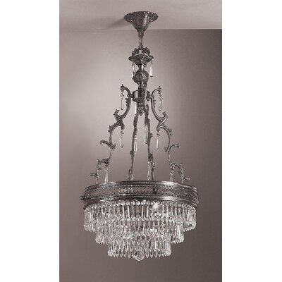 Renaissance 4-Light Pendant Crystal Type: Crystalique, Finish: Matte Bronze
