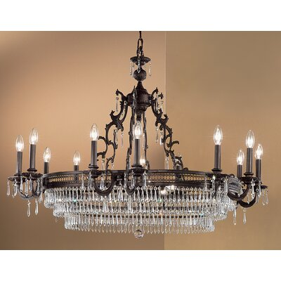 Renaissance 18-Light Crystal Chandelier Crystal Type: Swarovski Elements, Finish: Matte Bronze