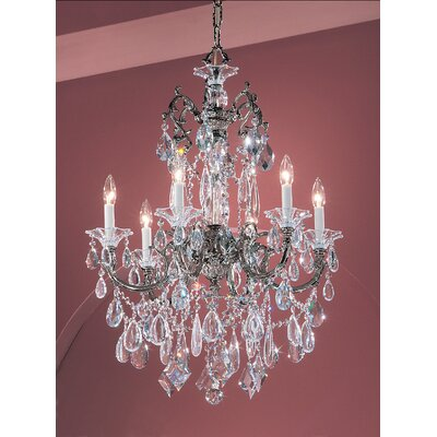 Via Venteo 6-Light Crystal Chandelier Finish: Ebony Pearl, Crystal Type: Crystalique