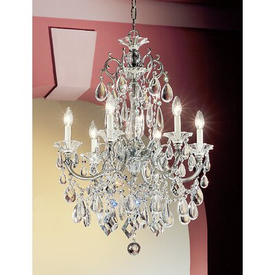 Via Venteo 6-Light Crystal Chandelier Finish: Millenium Silver, Crystal Type: Crystalique