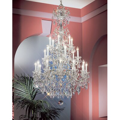 Via Venteo 24-Light Crystal Chandelier Crystal Type: Crystalique, Finish: Silverstone
