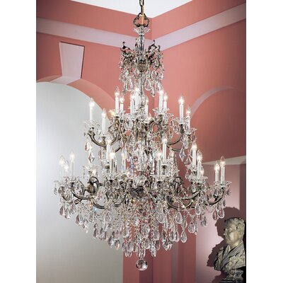 Via Venteo 30-Light Crystal Chandelier Finish: Roman Bronze, Crystal Type: Crystalique