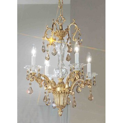 Via Firenze 4-Light Crystal Chandelier Finish: Bronze with Black Patina, Crystal Type: Swarovski Elements Golden Teak