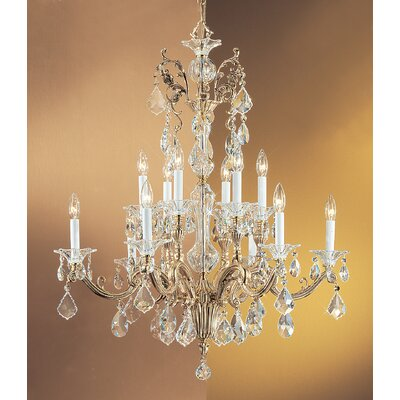 Via Firenze 12-Light Crystal Chandelier Finish: Bronze with Black Patina, Crystal Type: Crystalique