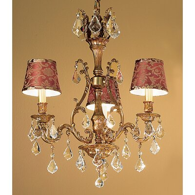 Majestic 3-Light Crystal Chandelier